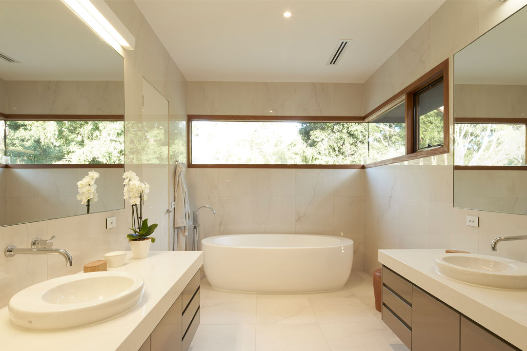 Englehart Homes bathroom with freestanding bath