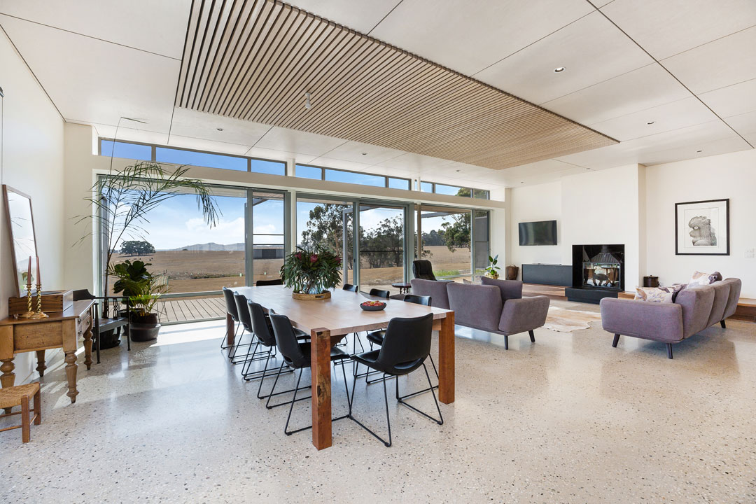 Hedger Constructions open plan living area