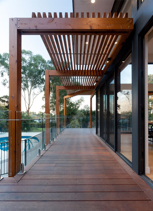 Rahcon timber veranda overlooking pool
