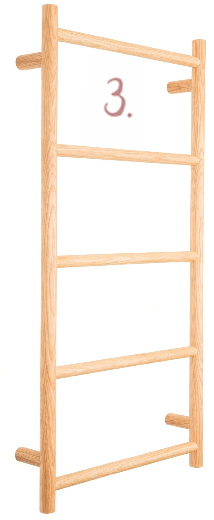 5-Rung Towel Rack in American Oak, RRP from $399, www.thedesignhunter. com.au