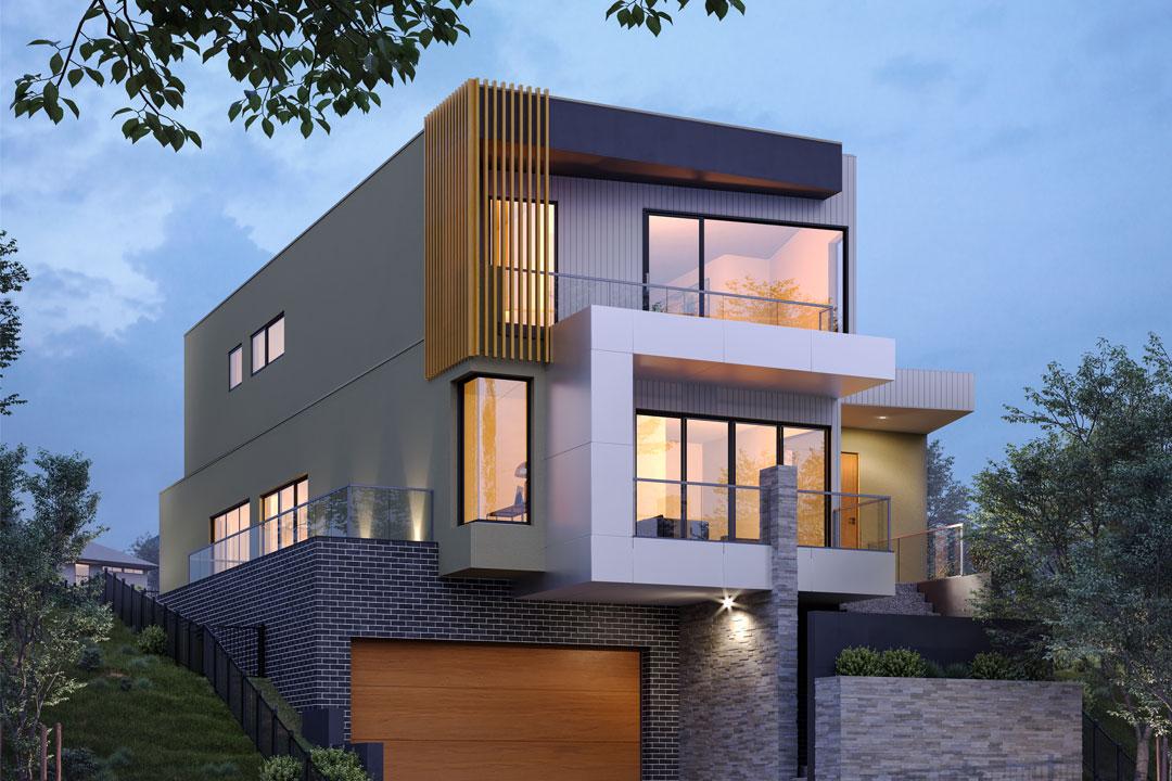 Rex Homes architectural facade