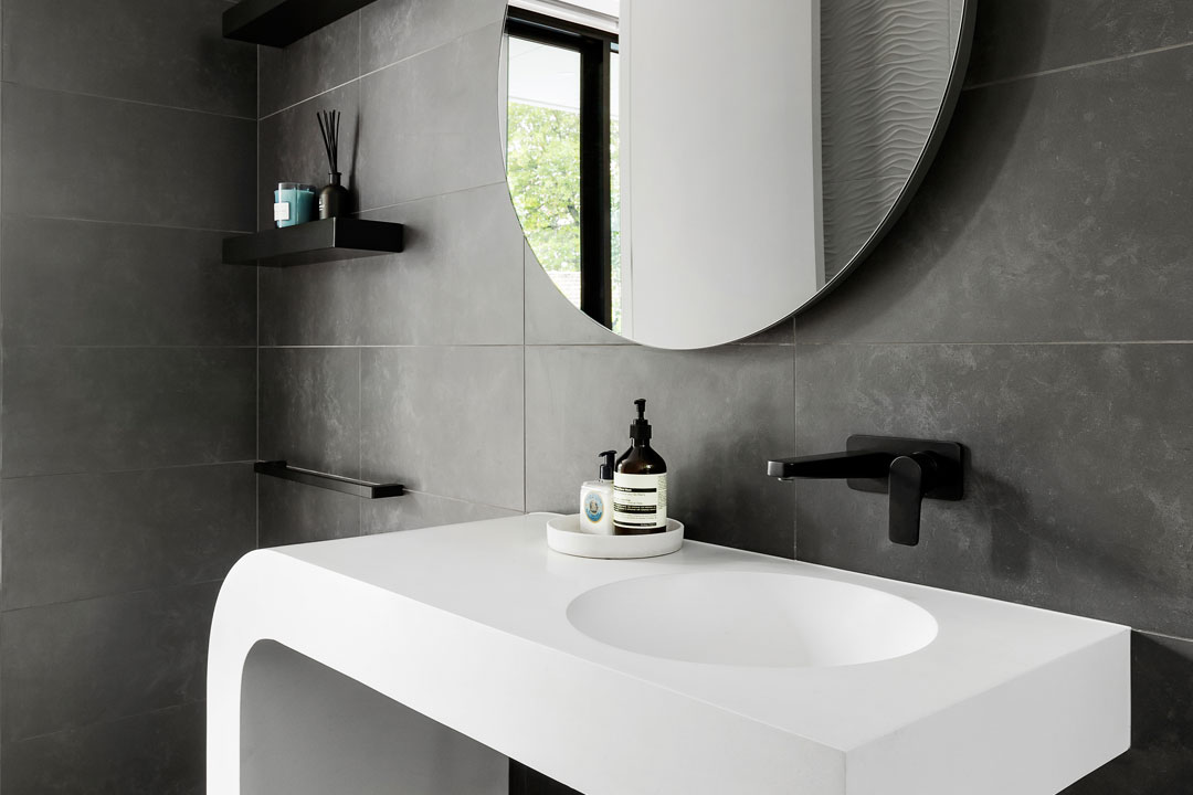 Stonehaven Homes bathroom with architectural sink