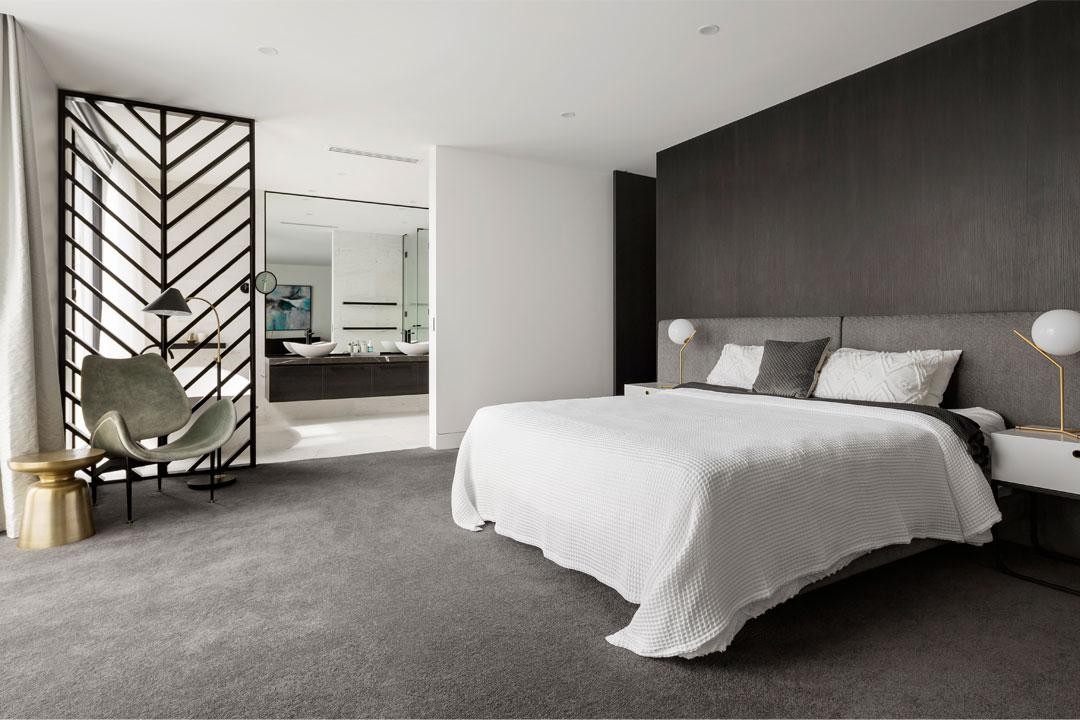 Stonehaven Homes raised black tiled spa modern home Melbourne unique build